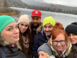 pelikanci na teambuildingu v Tatrách